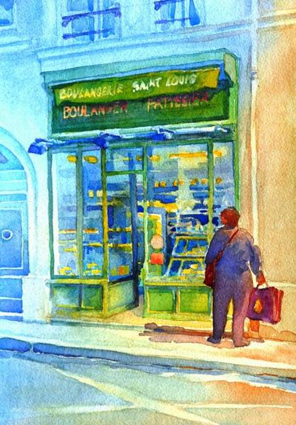 Townscape Wall Art - Painting - Saint-louis Boulangerie by Virgil Carter