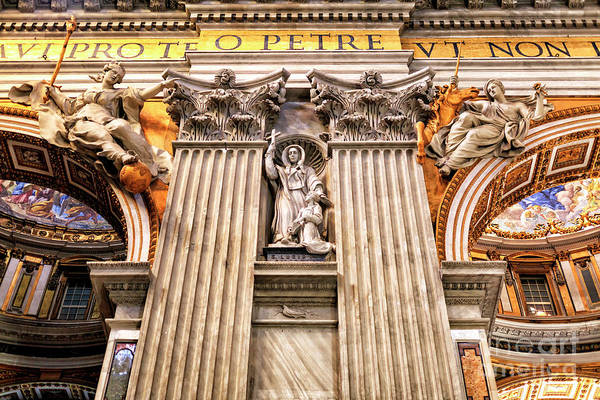 Photograph - Saint Lucia At Saint Peter's Basilica In Vatican City by John Rizzuto