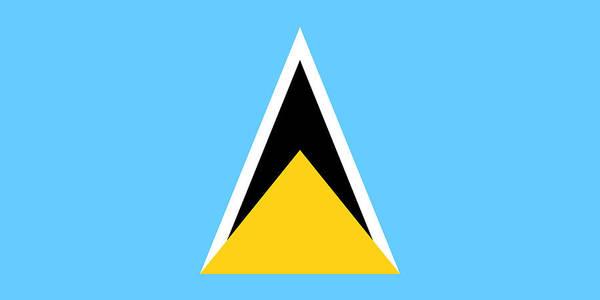 Saint Lucia Painting - Saint Lucia by Flags