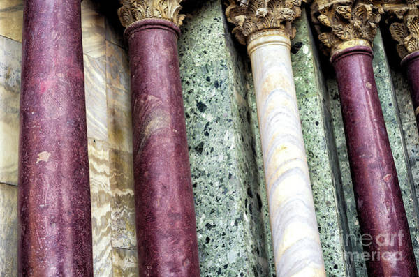 Wall Art - Photograph - Saint Mark's Basilica Purple Columns In Venice by John Rizzuto