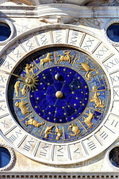Photograph - Saint Mark's Clock In Venice by John Rizzuto