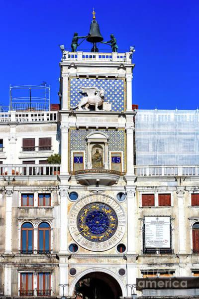 Photograph - Saint Mark's Clocktower In Venice by John Rizzuto