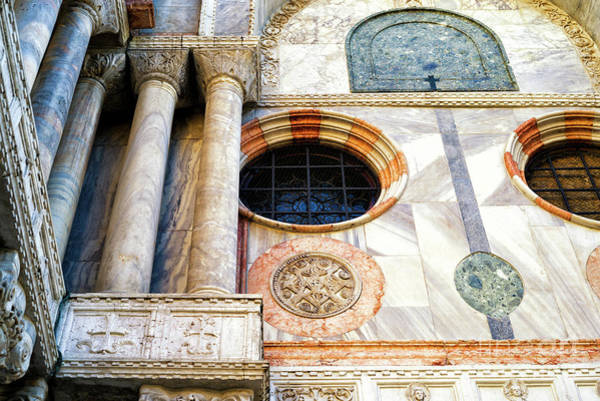 Wall Art - Photograph - Saint Mark's Marble Works In Venice by John Rizzuto