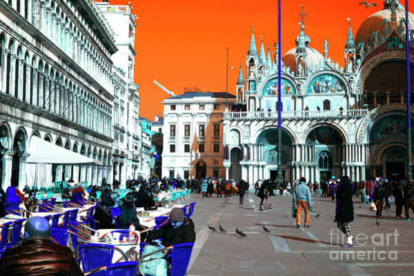 Wall Art - Photograph - Saint Mark's Square Pop Art Venice by John Rizzuto