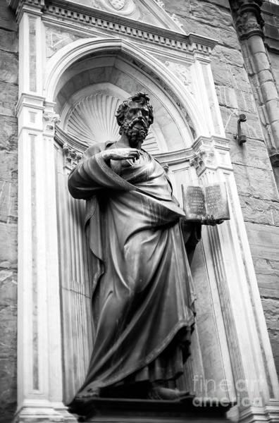 Photograph - Saint Matthew At The Orsanmichele In Florence by John Rizzuto