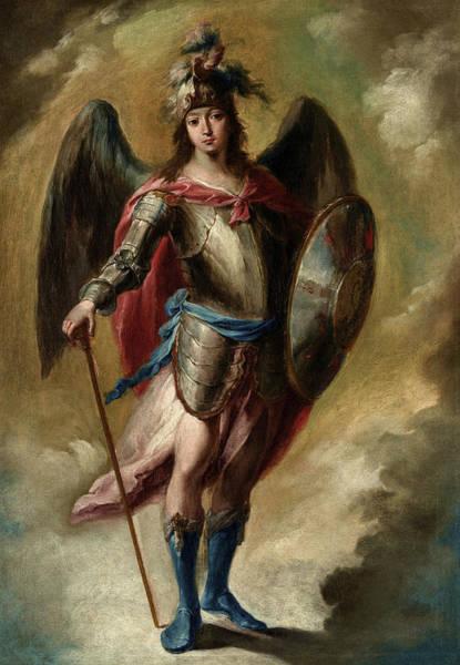 Wall Art - Painting - Saint Michael Archangel by Juan de Espinal