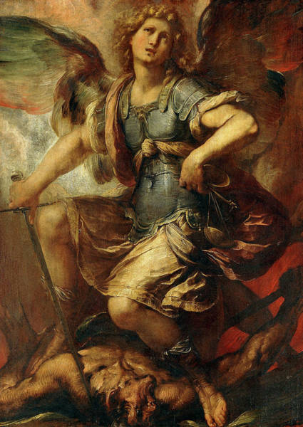 Cesare Painting - Saint Michael The Archangel by Giulio Cesare Procaccini