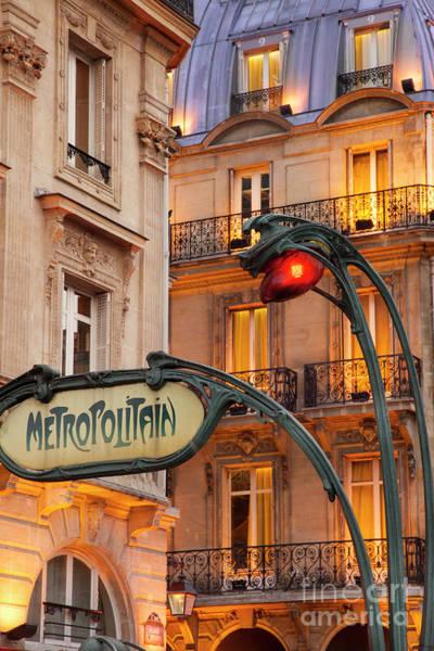 Photograph - Saint Michel Metro by Brian Jannsen