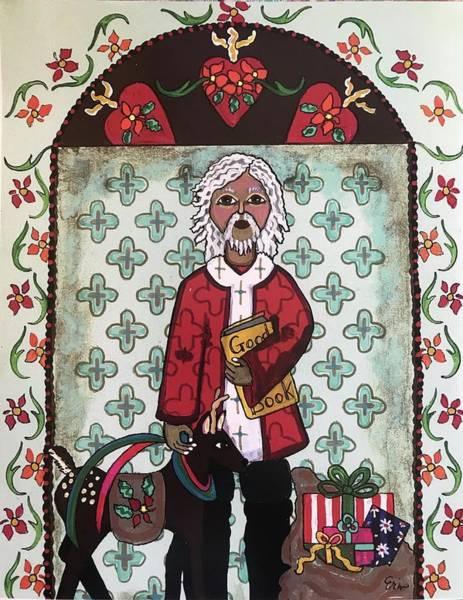 Wall Art - Mixed Media - Saint Nicholas by Erin Leeper