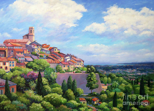 Campagne Painting - Saint Paul De Vence by John Clark