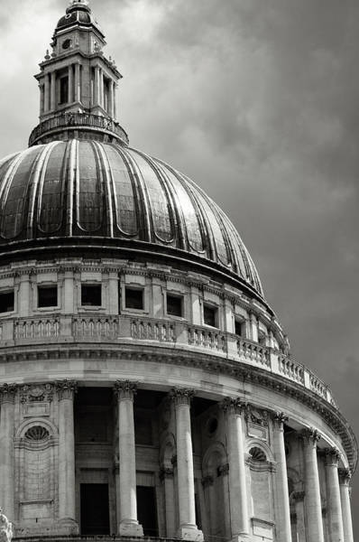 Church Photograph - Saint Pauls Cathedral Dramatic Sky by Peskymonkey