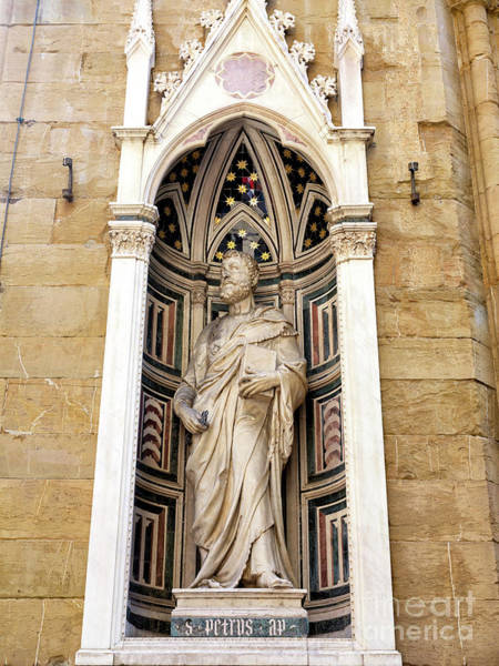 Photograph - Saint Peter At The Orsanmichele Florence by John Rizzuto