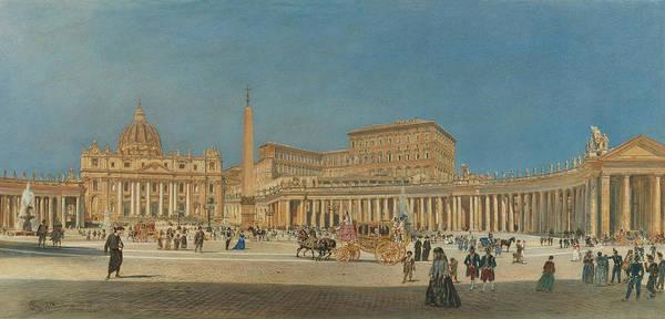 Wall Art - Painting - Saint Peter, Rome by Rudolf von Alt
