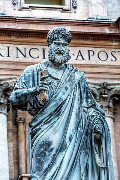 Wall Art - Photograph - Saint Peter Statue, Basilica, Vatican by William Perry