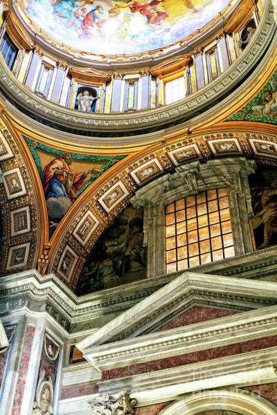 Photograph - Saint Peters Arcs And Angles At The Vatican by John Rizzuto