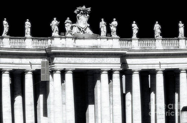 Photograph - Saint Peter's Basilica Saints In Vatican City by John Rizzuto