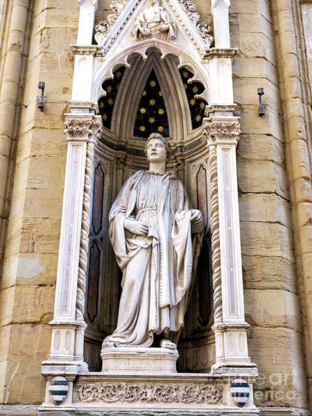 Photograph - Saint Philip At The Orsanmichele Florence by John Rizzuto