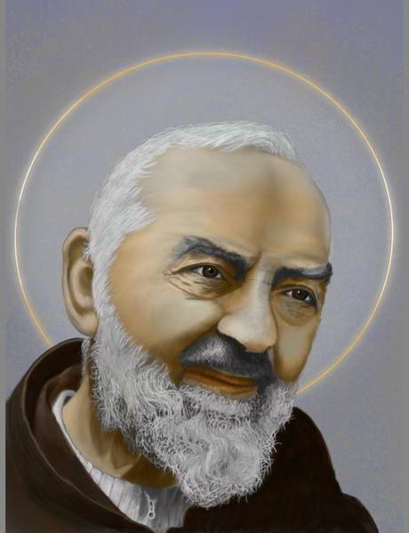 Padre Pio Wall Art - Digital Art - Saint Pio Of Pietrelcina by Jorge Garcia