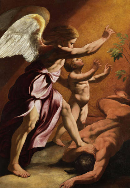 Wall Art - Painting - Saint Raphael The Archangel by Antonio Carracci