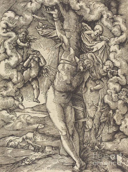 Wall Art - Drawing - Saint Sebastian, 1514 by Hans Baldung Grien