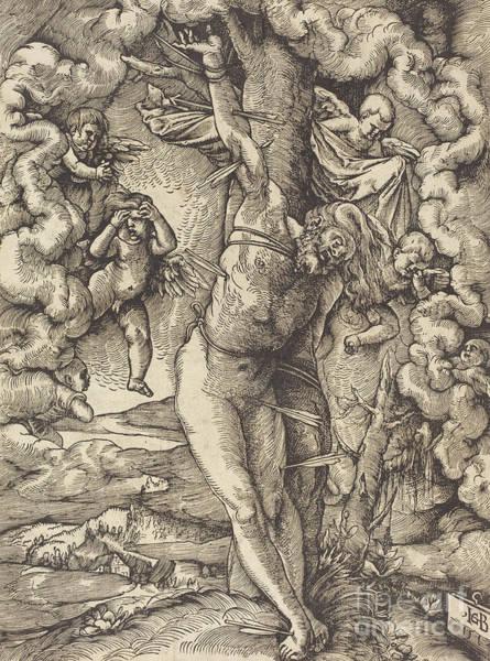 Pierce-arrow Wall Art - Drawing - Saint Sebastian, 1514 by Hans Baldung Grien