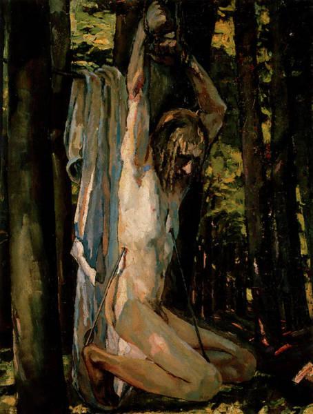 Franz Von Stuck Painting - Saint Sebastian  by Albert Weisgerber