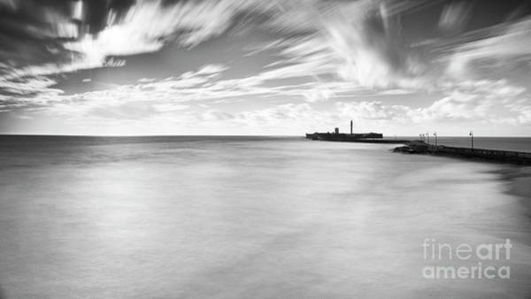 Photograph - Saint Sebastian Castle Long Exposure Cadiz Spain by Pablo Avanzini