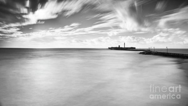 Photograph - Saint Sebastian Castle Long Exposure Cadiz Spain by Pablo Avanzini