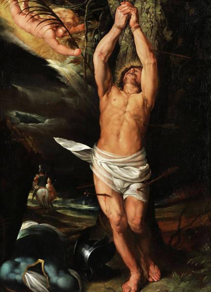 17th Century Wall Art - Painting - Saint Sebastian by Italian masters of the 17th century
