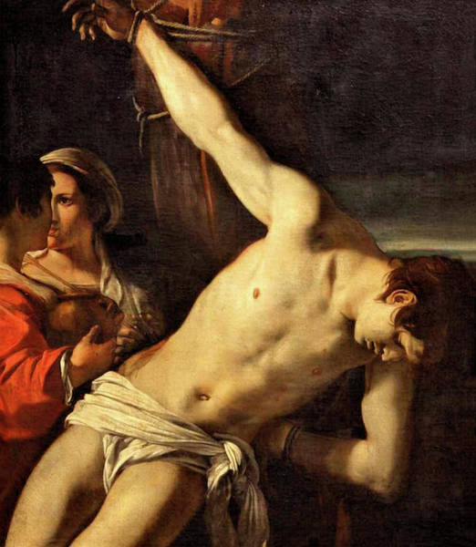 Painting - Saint Sebastian  by Orazio Gentileschi
