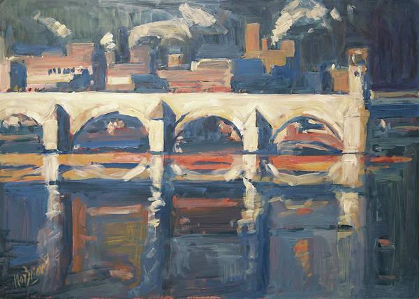 Wall Art - Painting - Saint Servaas Bridge And Sappi by Nop Briex