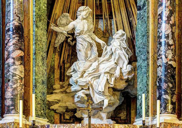 Photograph - Saint Teresa By Bernini - Wide by Weston Westmoreland