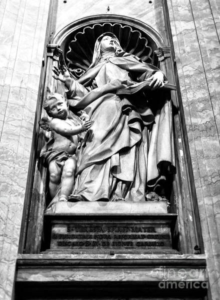 Photograph - Saint Teresa Of Jesus At Saint Peter's Basilica In Vatican City by John Rizzuto