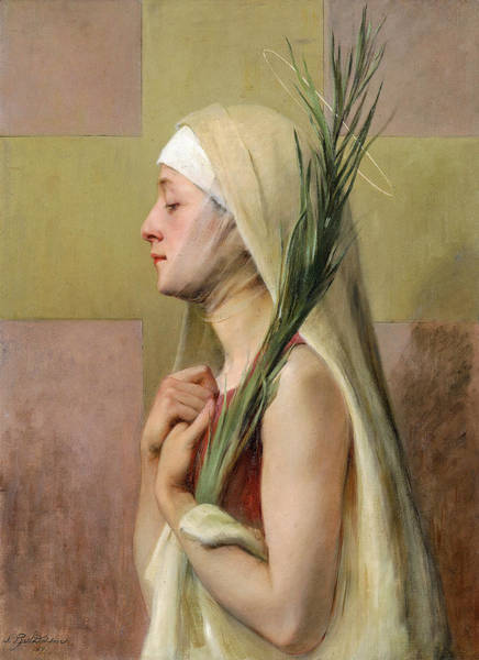 Wall Art - Painting - Saint Thechla, 1891 by Sarah Paxton Ball Dodson