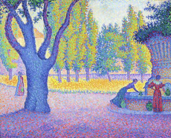 Wall Art - Painting - Saint-tropez, Fountain Of The Lices - Digital Remastered Edition by Paul Signac