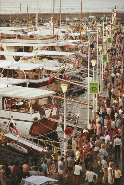 Crowd Photograph - Saint-tropez Seafront by Slim Aarons