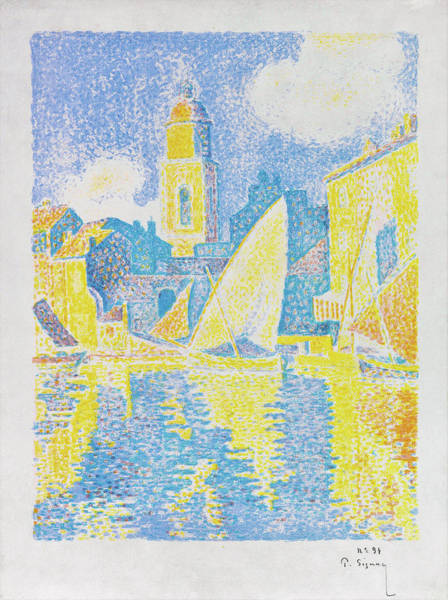 Neo-impressionism Wall Art - Painting - Saint-tropez The Port - Digital Remastered Edition by Paul Signac