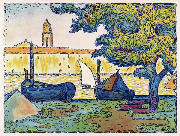 Neo-impressionism Wall Art - Painting - Saint-tropez, The Port Of St. Tropez - Digital Remastered Edition by Paul Signac