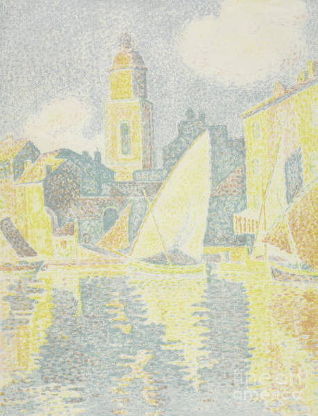 Wall Art - Painting - Saint-tropez, The Port by Paul Signac