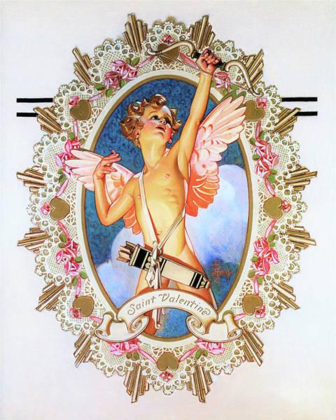 Wall Art - Painting - Saint Valentine - Digital Remastered Edition by Joseph Christian Leyendecker