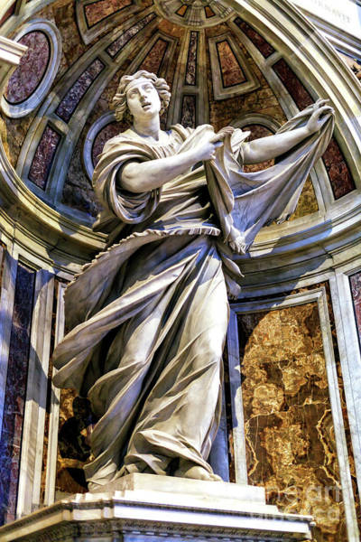 Photograph - Saint Veronica At Saint Peter's Basilica In Vatican City by John Rizzuto