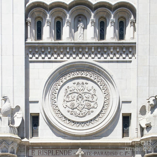 Photograph - Saints Peter And Paul Church Details On Filbert Street San Francisco R632 Sq by Wingsdomain Art and Photography