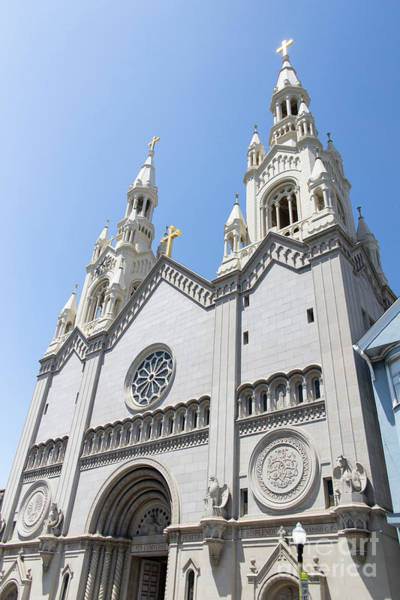 Wall Art - Photograph - Saints Peter And Paul Church On Filbert Street San Francisco R629 by Wingsdomain Art and Photography