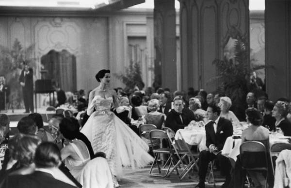 Photograph - Saks Fashion Show by Slim Aarons