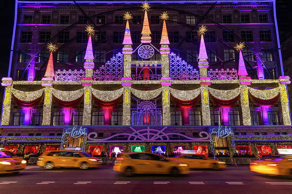 Photograph - Saks Fifth Avenue Nyc Christmas Display by Susan Candelario