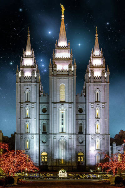 Photograph - Sal Lake City Temple Christmas by Roy Nelson