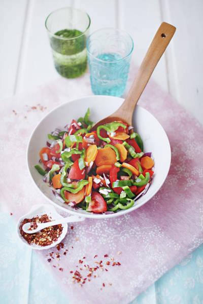Napkin Photograph - Salad by Julia Davila-lampe