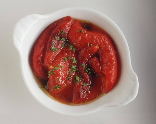 Wall Art - Photograph - Salad Of Roasted Red Peppers Ensalada by Neil Mersh