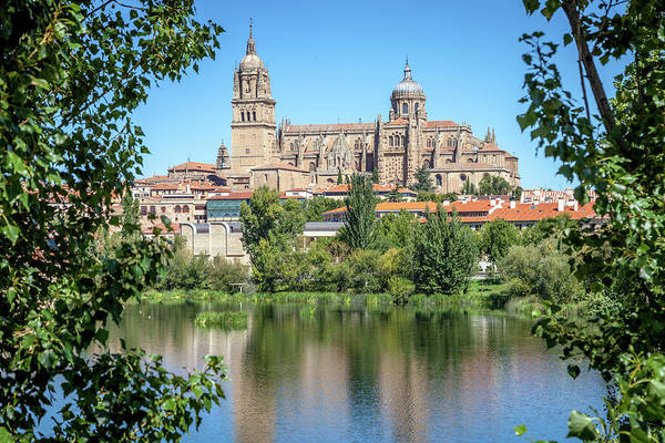 Wall Art - Photograph - Salamanca Cathedral From Across The Tormes River by W Chris Fooshee