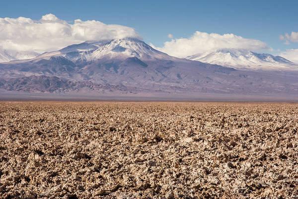 Salar De Atacama Photograph - Salar De Atacama With Snow-capped by © Santiago Urquijo